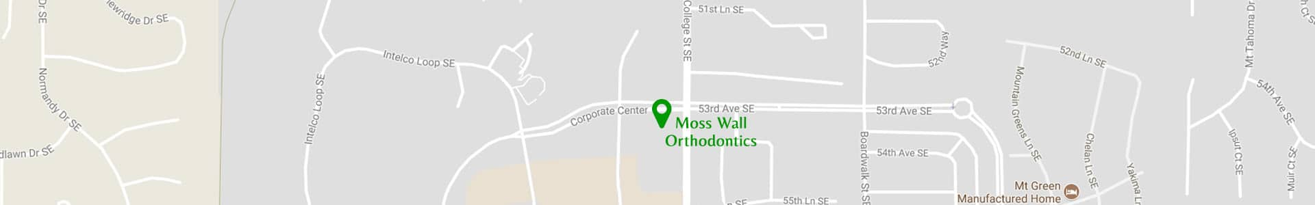 Map 2 Moss Wall Orthodontics in Lacey WA